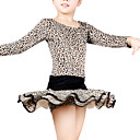 Dancewear Polyester With Leopard Latin Dress for Kids