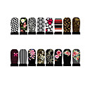 12pcs Nail Foil Art Armour Wraps Patch Stickers-Black Series