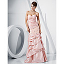 Trumpet/Mermaid Strapless Floor-length Taffeta Evening Dress