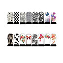 12st nail art folie armor wraps patch stickers-wit serie