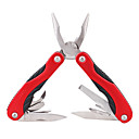 Stainless Steel Multi-Function Pocket Foldable Pliers Toolkit - Red
