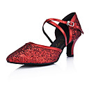 Leatherette/Sparkling Glitter Upper Ballroom Modern Dance Shoes for Women More Colors