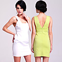 TS Open-back Elastic Bodycon Dress