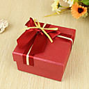 Red And Gold Double Bow Favor Box (Set of 6)