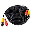 CCTV Cable, Video Power Cable, RG59 Coaxial Cable, Length: 20m