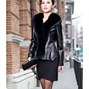 Shawl Collar Long Sleeve Lambskin Leather Career Jacket (More Colors)