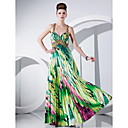 Sheath/Column Floor-length Charmeuse Evening Dress With Beading