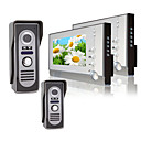Two 7 Inch Color TFT LCD Video Door Phone Intercom System (2 Waterproof Camera)