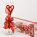 Red Rose & Calla Lily Glass Candle Holder