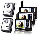 Two Wireless 3.5 Inch TFT Monitor Video Door Phone with 3 Cameras (Record,Photo)