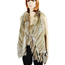 Genuine Rabbit/Raccoon Fur Fashion Vest With Tassels