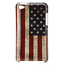 Retro Protective Hard Case for iPod Touch 4 (US Flag and Newspaper)