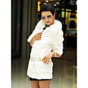Half Sleeve Rabbit Fur Party/Casual Coat With Fox Fur Collar (More Colors)