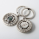 Personalized Compass Key Ring  Run On The Wheels (Set of 4)