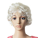 Capless Short Synthetic Grey Curly Hair Wig