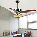 5 - Blade Two - Way Mode Ceiling Fan with 3 Lights in 3 Speed