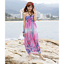 Square Sheath Chiffon Maxi Dress (More Colors)
