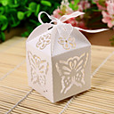 Exquisite Cutout Butterfly & Flower Laser Cut Favor Box (Set of 12)