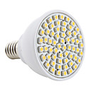 E14 3528 SMD 60-LED 2800-3200K 200Lm Warm White Light Bulb 230V