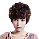 Hand Tied Short Curly Mixed Hair Wig with UVP Antimicrobial Net