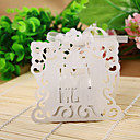 Exquisite Cutout Bride & Groom Laser Cut Favor Box (Set of 12)