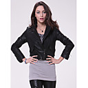 Long Sleeve Turndown Collar Party/ Career Lambskin Leather Jacket With Pockets  (More Colors)