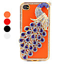 Crystal Peacock Style Case Cover for iPhone 4 and 4S (Assorted Colors)