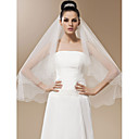 One-tier Tulle With Bead Fingertip Length Veil (More Colors)