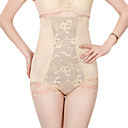 Cotton/Chinlon High Waist Shaper Briefs With Lace