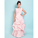 A-line Square Floor-length Taffeta Junior Bridesmaid Dress