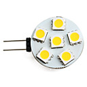 G4 2-2.5W 6x5050 SMD 60-70LM 2800-3200K Warm White Light LED Spot Bulb (12V)