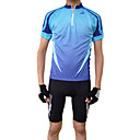 jaggad - mens  manches courtes maillot cycliste (bleu / vert)