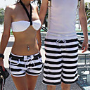 Black-white Stripe Hot Pants