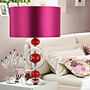 40W Nature Inspired Fabric Shade Table Light with Ceramic Decoration