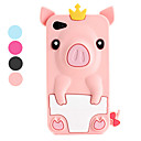 Etui de Protection Style Cochon, En Silicone, pour iPhone 4/4S - Couleurs Assorties