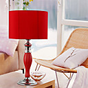 40W Nature Inspired Fabric Shade Table Light Red