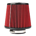 High Flow Air Filter for Car - Red + Black (Size S)