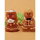 Adorable Gingerbread Bride &amp; Groom Candle Favors(set of 8)