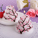 Cherry Blossom Design Cake Candle Favors(set of 4)