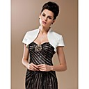Silk And Spandex Open Front Evening/Wedding Jacket With Short Sleeves