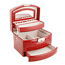 Semi-automatic Alligatoring Leatherette Ladies'Jewelry Box(More Colors)