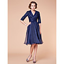 uma linha strapless curto / mini vestido da dama de honra de cetim / cocktail