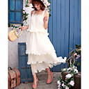 White Chiffon Lonf Dress
