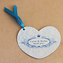 Personalized Heart Shaped Wedding Invitation With Crown - Set Of 50 (More Colors)