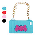 Unique Hand Bag Pattern with Metal Strap Silicone Case for iPhone 4 and 4S (Assorted Colors)