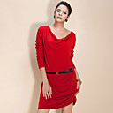 TS Swing Collar Loose Cashmere Dress (More Colors)