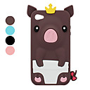 Pig in Crown Silicone Case for iPhone 4 and 4S (Assorted Colors)