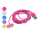 Colorful USB Cable for iPhone, iPad &amp; iPod (Assorted Color,Apple 30 pin, 300cm)