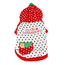 Baby Strawberry Style Hoodie for Dogs (XS-XL, Red)