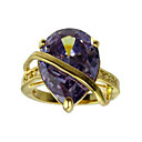 18K Platium Plated &amp; Top Level Cubic Zirconia Fashion Ring(More Colors)